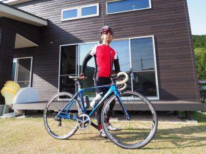 ご主人のもう一つの趣味はサイクリング。豊かな自然を体感しながら走ります。